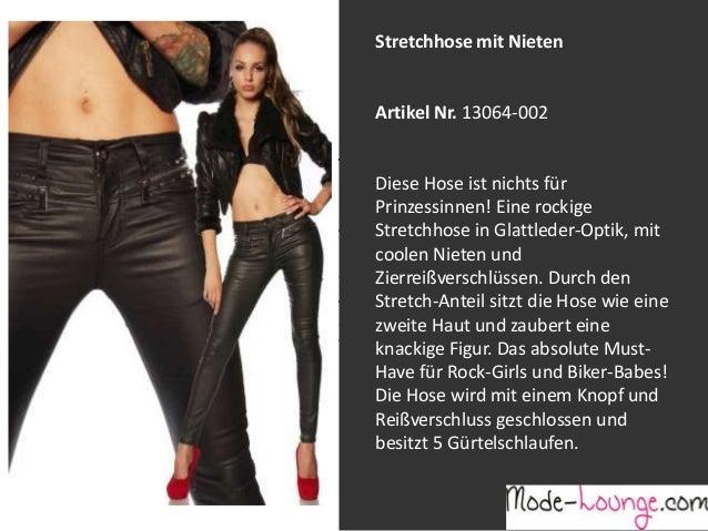 Stretchhose mit Nieten  Artikel Nr. 13064-002 Jeansprint Leggings Diese Hose ist nichts für Prinzessinnen! Eine rockige Ar...