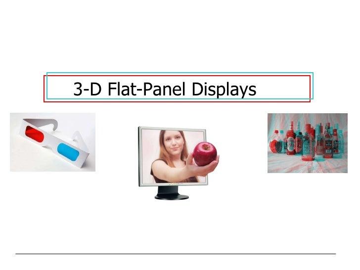 3-D Flat-Panel Displays