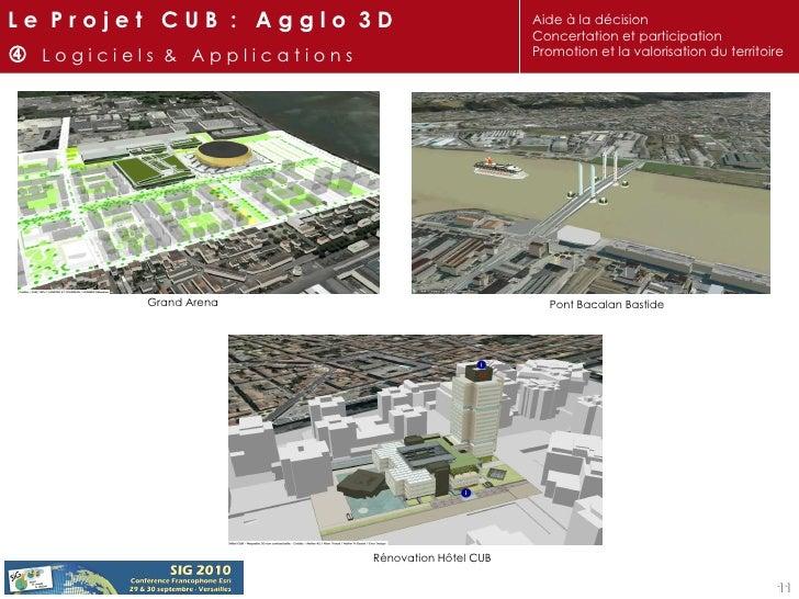 Pont Bacalan Bastide Grand Arena Rénovation Hôtel CUB L e  P r o j e t  C U B  :  A g g l o  3 D    L o g i c i e l s  & ...