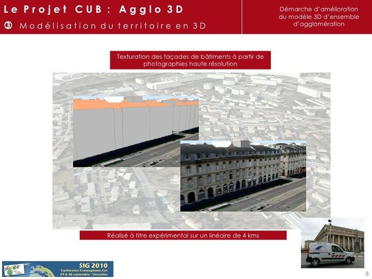 Texturation des façades de bâtiments à partir de photographies haute résolution Réalisé à titre expérimental sur un linéai...