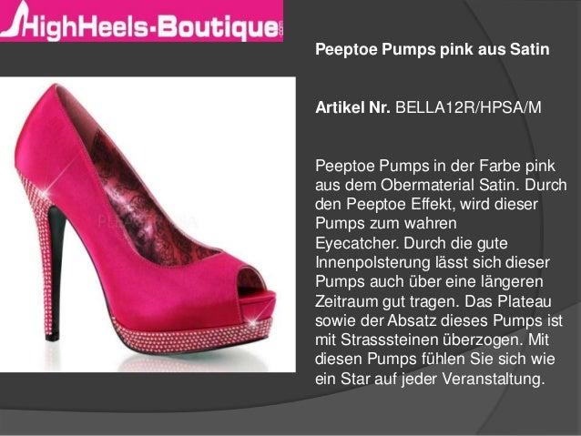 Peeptoe Pumps pink aus Satin  Artikel Nr. BELLA12R/HPSA/M  Peeptoe Pumps in der Farbe pink aus dem Obermaterial Satin. Dur...