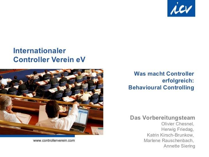 InternationalerController Verein eV                        Was macht Controller                                  erfolgrei...