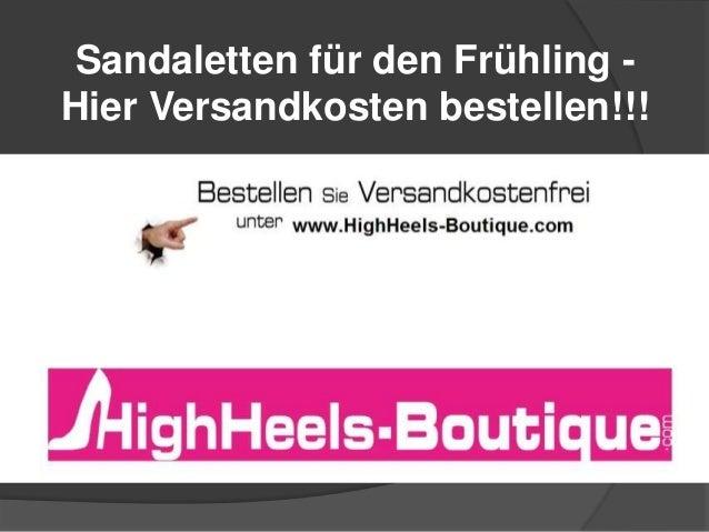 Sandaletten für den Frühling Hier Versandkosten bestellen!!!