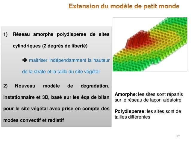 1)  Réseau amorphe polydisperse de sites  cylindriques (2 degrés de liberté)  maitriser indépendamment la hauteur de la s...