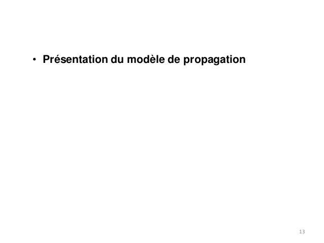 • Présentation du modèle de propagation  13