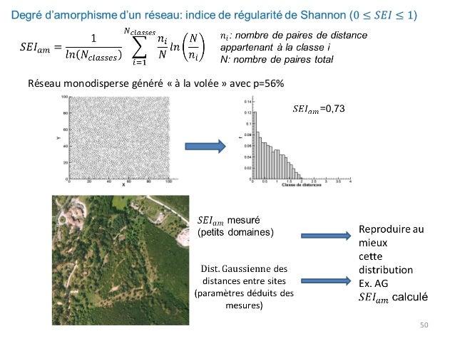 Réseau monodisperse généré « à la volée » avec p=56%  50
