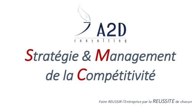 Stratégie & Management  de la Compétitivité  Faire REUSSIR l'Entreprise par la REUSSITE de chacun
