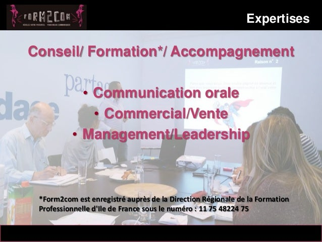 Cabinet conseil et de formation Form2com  Slide 2
