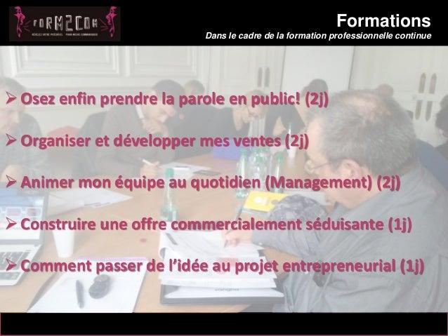 14/10/2012 Formations Dans le cadre de la formation professionnelle continue 5 Messaoud Mahmoud  Osez enfin prendre la pa...
