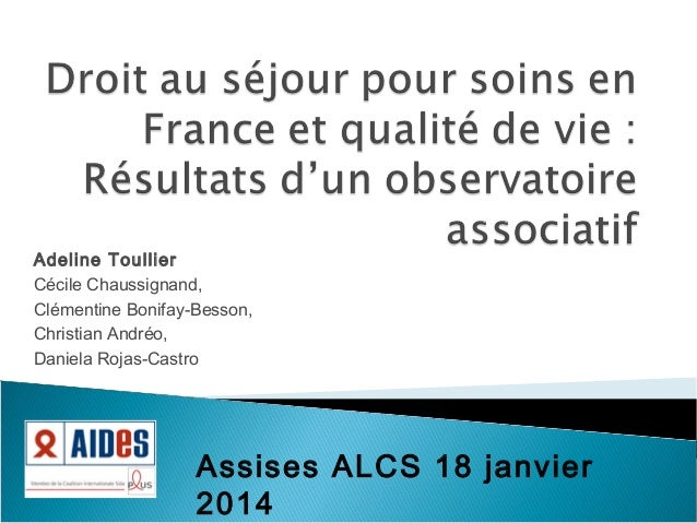 Adeline Toullier Cécile Chaussignand, Clémentine Bonifay-Besson, Christian Andréo, Daniela Rojas-Castro  Assises ALCS 18 j...