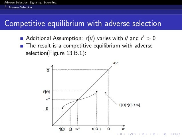 equilibrium competitive insurance markets essay economics The nature of competitive equilibrium  equilibrium in competitive insurance markets: the welfare economics  equilibrium in competitive insurance markets.