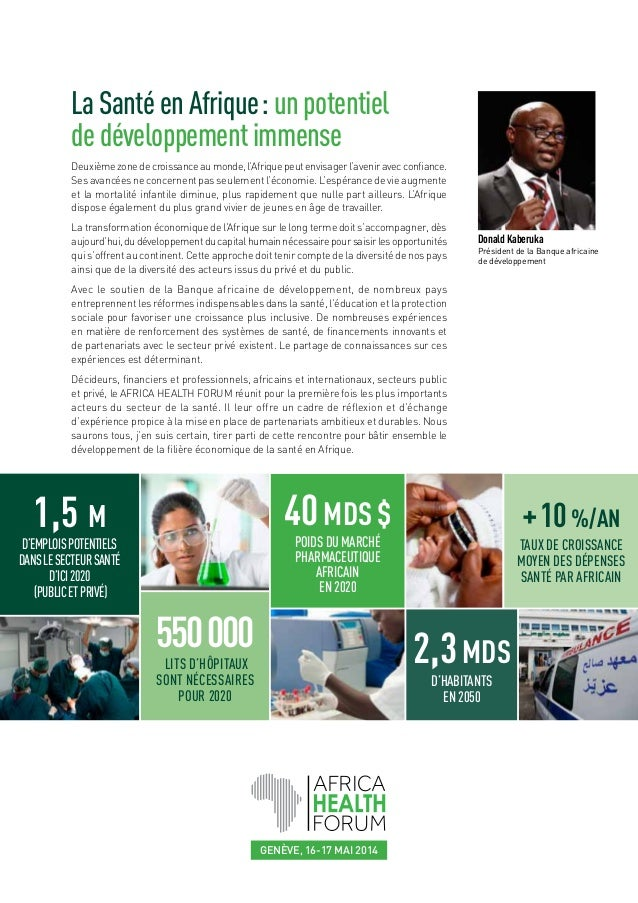 Africa Health Forum : présentation Slide 2