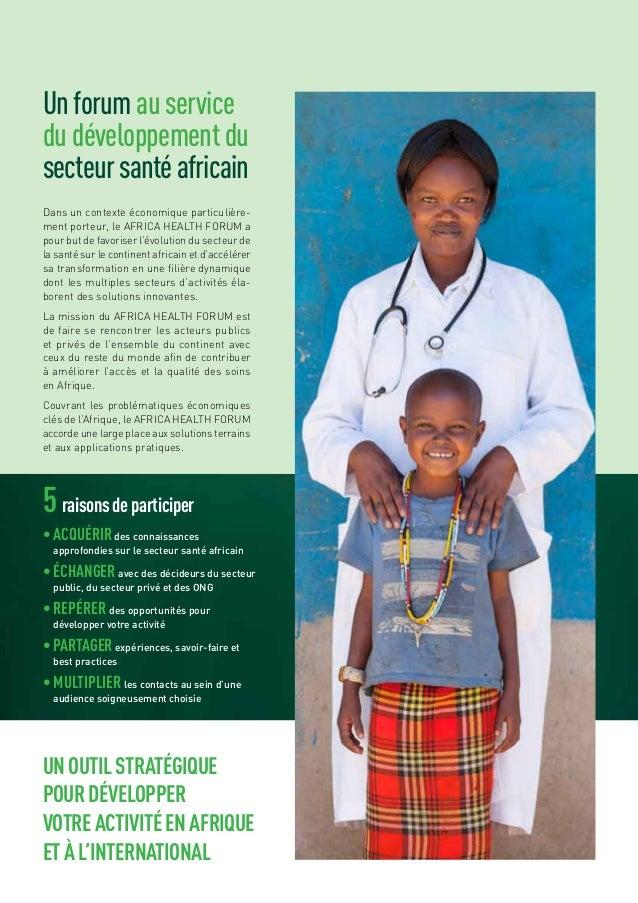 Africa Health Forum : présentation Slide 3