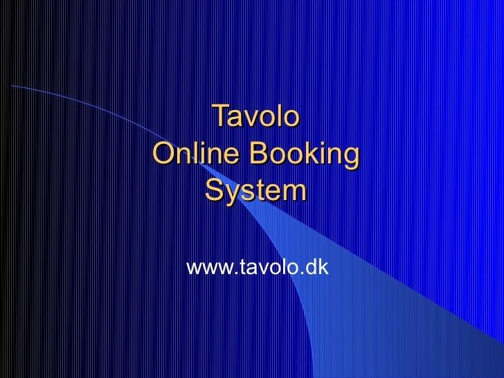 TavoloOnline Booking    System  www.tavolo.dk
