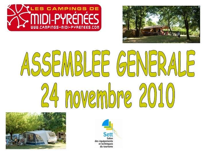 ASSEMBLEE GENERALE  24 novembre 2010