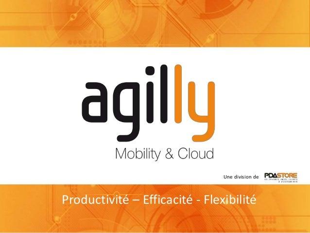 Une division de Productivité – Efficacité - Flexibilité