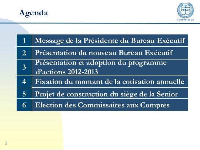 Senior esca rapport d 39 activit for Activite de bureau