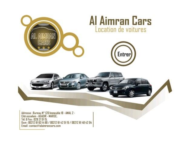 Location de voiture AgadirLeader du secteur de la location de voiture à                   Agadir