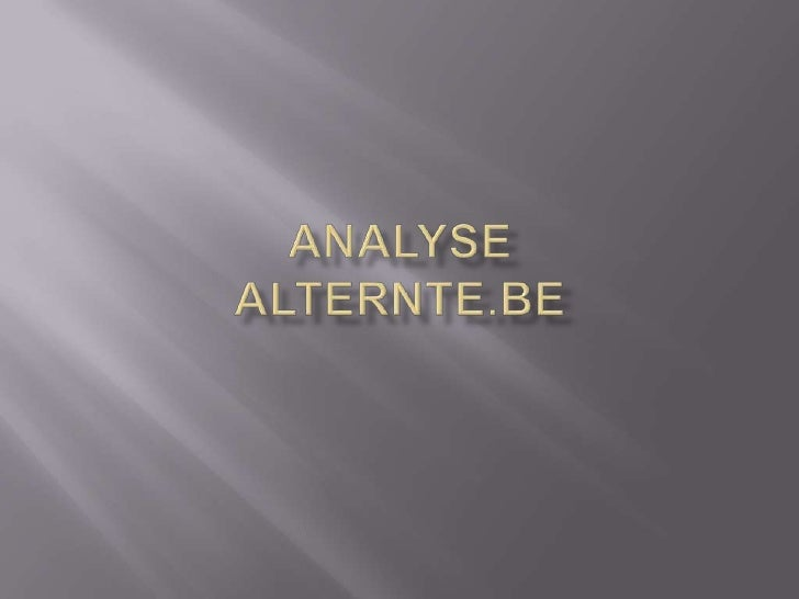 Analyse Alternte.be<br />