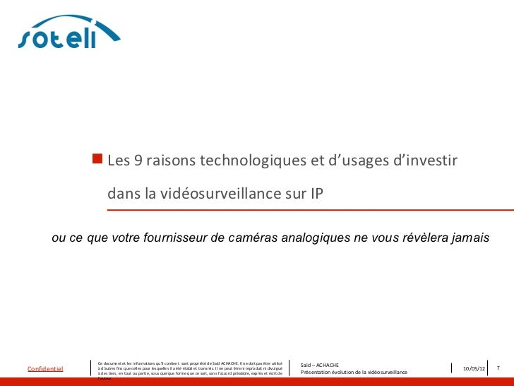  Les 9 raisons technologiques et d'usages d'investir                     dans la vidéosurveillance sur IP        ou ce qu...