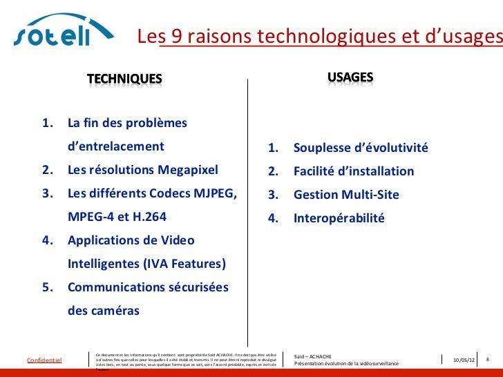 Les 9 raisons technologiques et d'usages     1.        La fin des problèmes               d'entrelacement                 ...