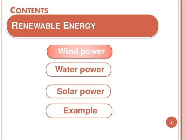 renewable energy  Slide 2
