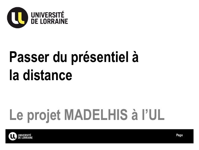 Page Passer du présentiel à la distance Le projet MADELHIS à l'UL