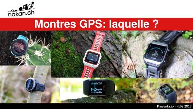 Montres GPS: laquelle ? Présentation HUG 2017