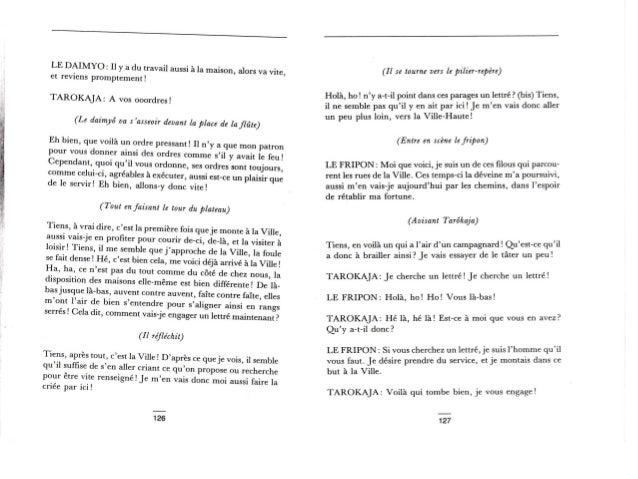 """Pièce de Théâtre """"Japon"""": Le Fripon Lettré Slide 3"""
