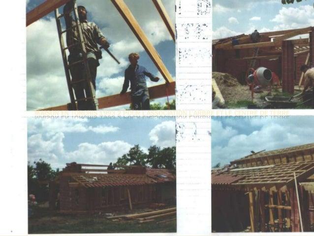 MAISON EN TORCHIS 1993 2 POUR L'ASSOCIATION L'ARBRE ET LE CENTRE DE TERRE