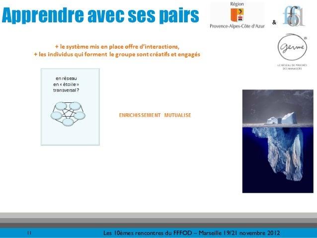 Apprendre avec ses pairs                                               &   11       Les 10èmes rencontres du FFFOD – Marse...
