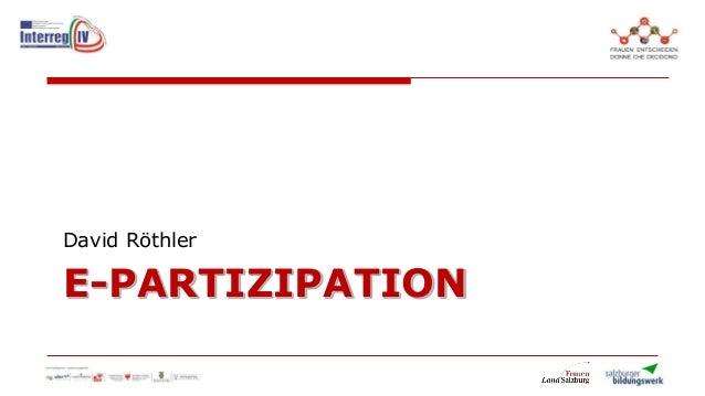 E-PARTIZIPATIONDavid Röthler
