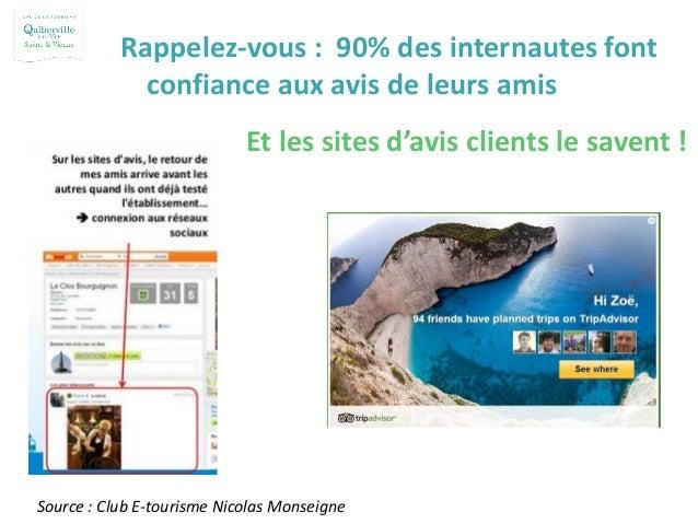 Et les sites d'avis clients le savent ! Source : Club E-tourisme Nicolas Monseigne Rappelez-vous : 90% des internautes fon...