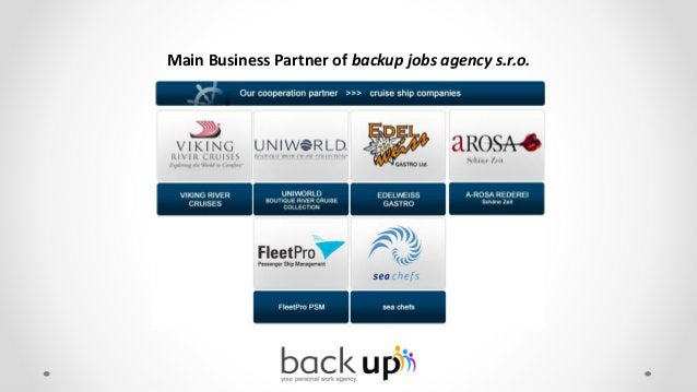 Further Business Partner/ Cooperations of backup jobs agency s.r.o.