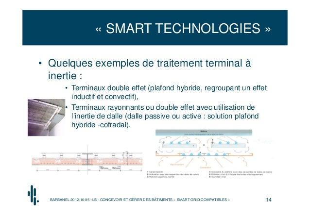 « SMART TECHNOLOGIES »• Quelques exemples de traitement terminal à  inertie :         • Terminaux double effet (plafond hy...