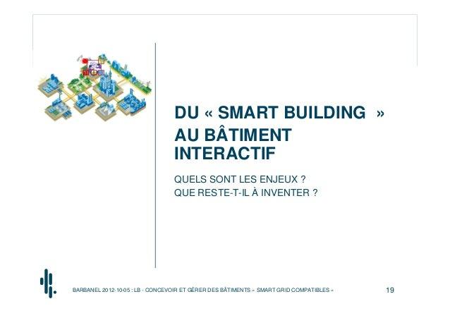 DU « SMART BUILDING »                                 AU BÂTIMENT                                 INTERACTIF              ...