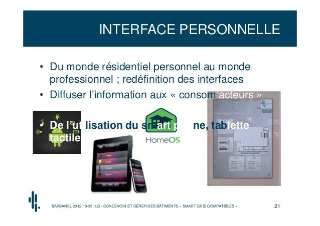 INTERFACE PERSONNELLE• Du monde résidentiel personnel au monde  professionnel ; redéfinition des interfaces• Diffuser l'in...