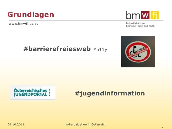 e-Partizipation in Österreich (in 10 Minuten) Slide 2