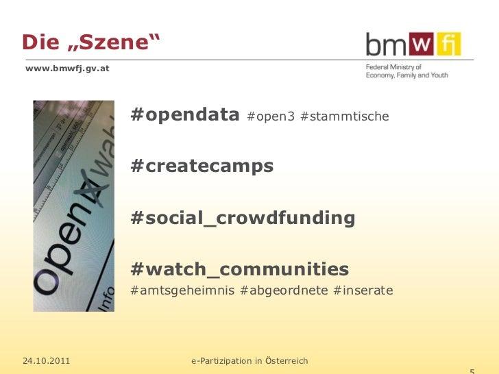 "Die ""Szene""www.bmwfj.gv.at                  #opendata            #open3 #stammtische                  #createcamps        ..."