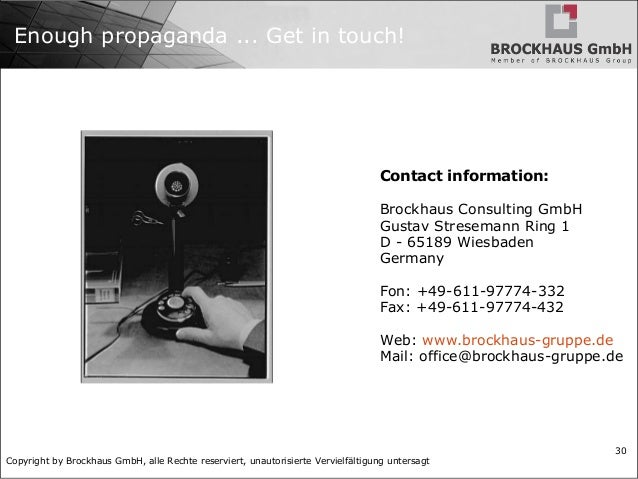 Copyright by Brockhaus GmbH, alle Rechte reserviert, unautorisierte Vervielfältigung untersagt 30 Enough propaganda ... Ge...