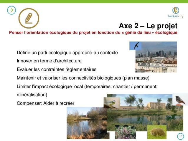 Pr sentation biodiver city 11 avril 2014 for Projet architectural definition