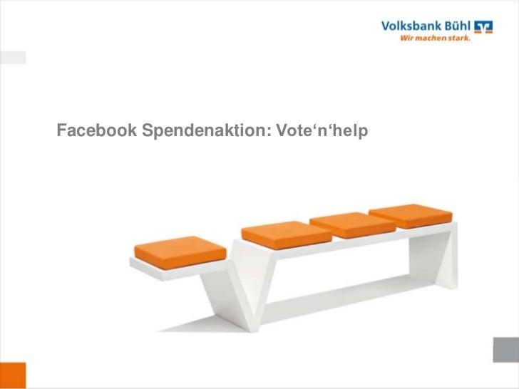 Facebook Spendenaktion: Vote'n'help