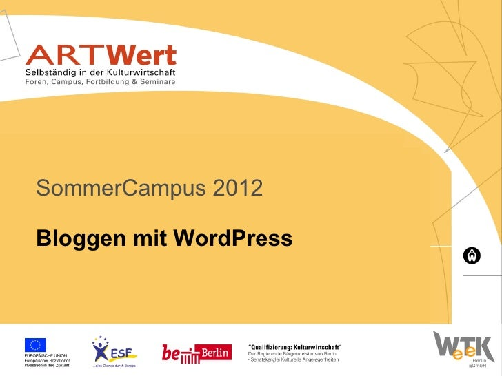 SommerCampus 2012Bloggen mit WordPress