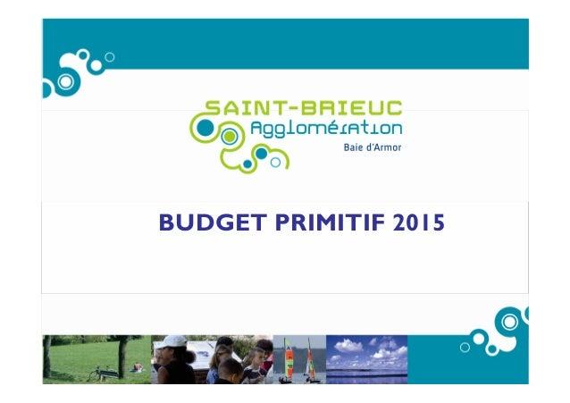 BUDGET PRIMITIF 2015