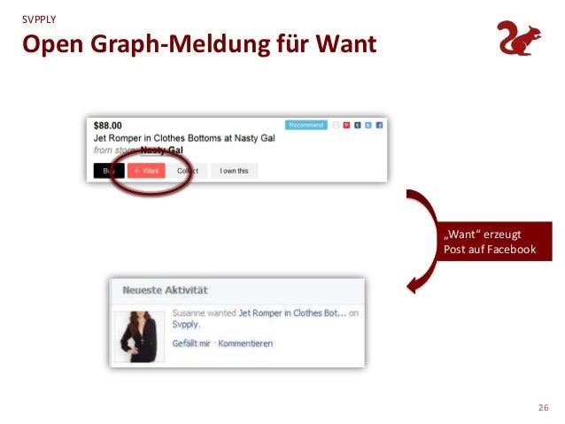"""SVPPLYOpen Graph-Meldung für Want                              """"Want"""" erzeugt                              Post auf Facebo..."""