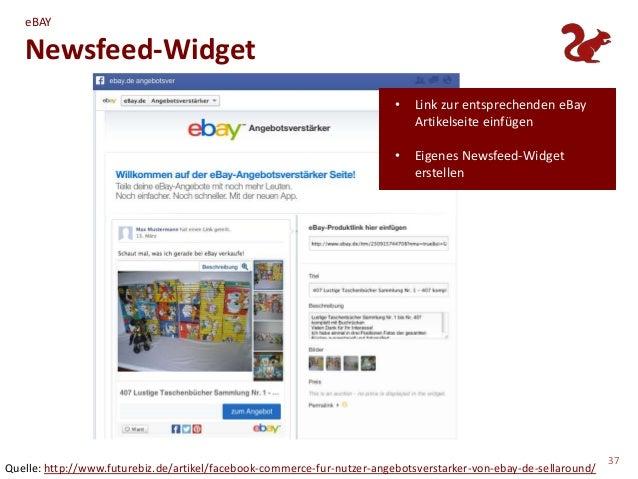 eBAY   Newsfeed-Widget                                                                         •   Link zur entsprechenden...
