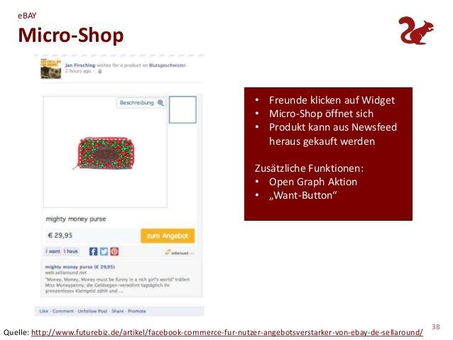 eBAY   Micro-Shop                                                                  • Freunde klicken auf Widget           ...