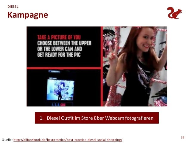 DIESEL   Kampagne                         1. Diesel Outfit im Store über Webcam fotografieren                             ...