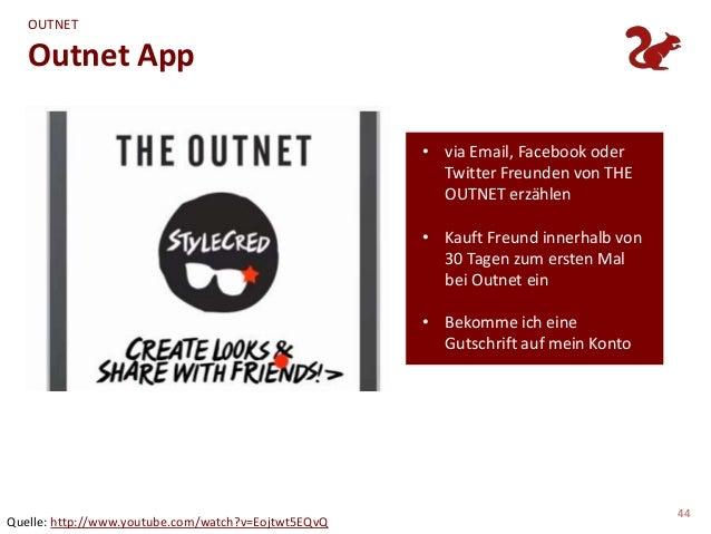 OUTNET   Outnet App                                                     • via Email, Facebook oder                        ...