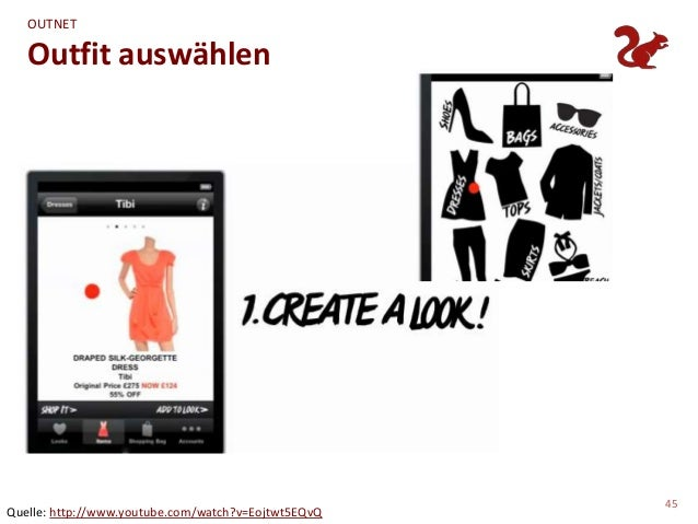 OUTNET   Outfit auswählen                                                     45Quelle: http://www.youtube.com/watch?v=Eoj...